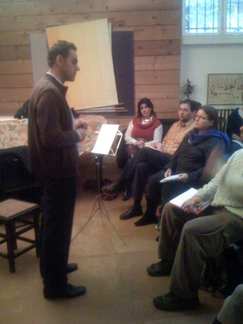 Bruno Moryas pendant sa conférence
